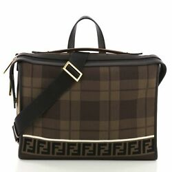 Fendi Lui Messenger Bag Tech Knit with Leather Large