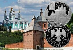 Russia 2013 25 Roubles 1150 Years Of Smolensk 5 Oz Proof Silver Coin