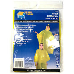 Emergency Rain Poncho Yellow Camping Hiking Sport Bug-Out Disaster WHOLESALE LOT