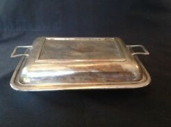 Vintage Silverplate Covered Serving Dish 10 1/4 X 7 1/4 Base Stamped Epns 81