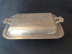 Vintage Silverplate Covered Serving Dish 11 X 8 Stamped 81 To Base