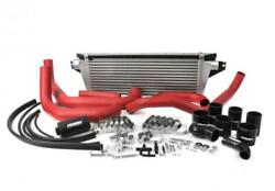 Perrin Fmic Red Boost Tubes W/ Black Silicon For 08+ Sti - Papsp-itr-430-2rd/bk