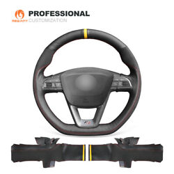Leather Suede Car Steering Wheel Cover For Seat Leon Ibiza Fr|cupra