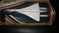 Corgi Toys 651 Air France Concorde Jet Boxed Made In Great Britain Hard To Find