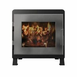 Mf Fire Nova Stain Black Wood Stove With Stainless Steel Door