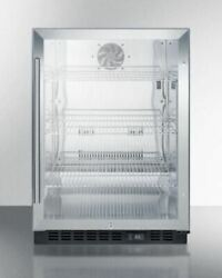 Summit Commercial Built-in Under-counter Beverage Fridge With Ss Interior