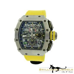 Richard Mille RM11-03 Flyback Titanium Chronograph Skeleton Dial Watch COMPLETE