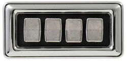 New 1969-1977 Dodge/plymouth B-body Master Window Switch- Concave Style Buttons