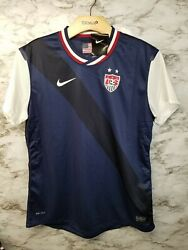 Nwt Nike Us National Soccer Team Jersey Away 520543 410 Women's Large Usa