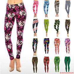 Women#x27;s Butter Soft Patterned Leggings $6.49