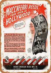 Metal Sign - 1943 Maccaferri Woodwind And Brass Reeds - Vintage Look Re