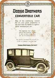 Metal Sign - 1919 Dodge Brothers Convertible Car - Vintage Look Reproduction