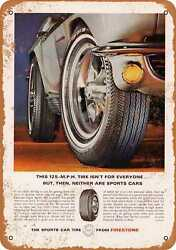Metal Sign - 1966 Firestone Sports Car Tires - Vintage Look Reproduction