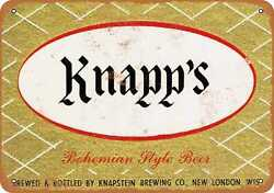 Metal Sign - Knappand039s Bohemian Style Beer - Vintage Look Reproduction
