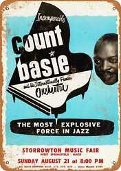 Metal Sign - 1966 Count Basie In Springfield Ma - Vintage Look Reproduction
