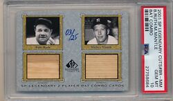 2001 SP Legendary Cuts * BABE RUTH * MICKEY MANTLE Combo Bat #325 PSA 10 POP 4