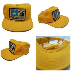 Rare Vintage I Like Fat In My Feed Cow Snap Back Farm Cap Hat