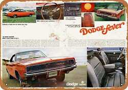 Metal Sign - 1968 Dodge Charger Fever - Vintage Look Reproduction