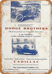 Metal Sign - 1920 Dodge Brothers And Cadillac Cleveland - Vintage Look Repro