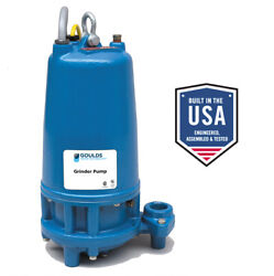 Xylem Goulds Submersible Grinder Pump Model Rgs2012 2 Hp 1.25 Npt Discharge