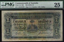 Commonwealth Of Australia Pick 4d R21 Nd1918 Andpound1 Sign.c.j. Cerutty - J.r.collins