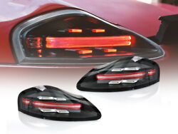 718 Style Full Led Clear/red Bar Tail Light Set For 1997-04 Porsche Boxster 986