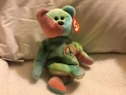 Ty Beanie Baby Peace 1996 Bear Original Collectibles Unique And Rare