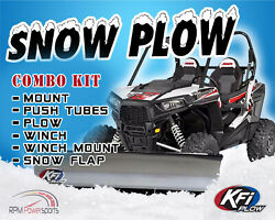 Kfi Polaris Plow Complete Kit 72 Steel Straight Blade And03909-and03916 Ranger 700 800