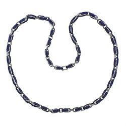 Roberto Coin Fantasia Sapphire Diamond Long Link Necklace