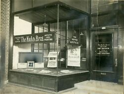 The Kuhn Bros. Publishers Printing, The Dipper Office, Ottawa On Vintage Photo