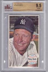1964 Topps Giants Mickey Mantle BGS 9.5  Gem Mint  Beautiful   Low Pop!