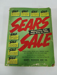 Vintage 1952 Sears Roebuck And Co Mid Summer Sale Catalog Advertising