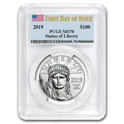 2019 1 Oz Platinum American Eagle Ms-70 Pcgs First Day Of Issue - Sku181408