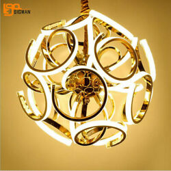 Chandelier Led Ceiling Fixture Curtain Pendant Light Dining Room Hang Lamp Home