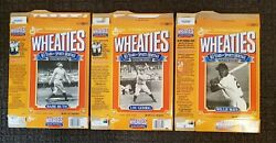 Vintage Flattened Babe Ruth, Lou Gehrig, Willie Mays Wheaties Cereal Boxes