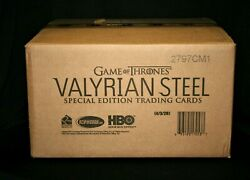 2017 Game of Thrones Valyrian Steel Special Edition Factory Sealed 20 Box Case