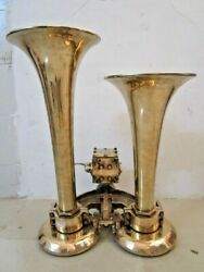 EXTRA LARGE - KAHLENBERG D 4 Air Horn - BRASS - BOAT - LOCOMOTIVE TRAIN (2615)