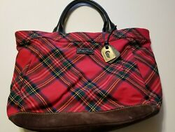 Dooney Bourke Large Plaid Tote $100.00