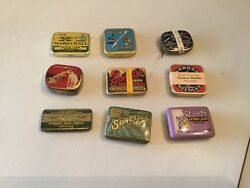 Vintage Phonograph Needles In Tins Lot Of 9