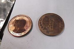 1983 Uruguay 2000 N King And Queen Proof Pruebas Obv. And Rev.only 10 Sets Minted