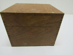 Old Wood-wooden Dovetail Weis Kitchen Recipe Box File Box Index Card