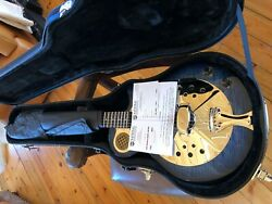 Sold National Blue Resophonic Pioneer - Wood Body