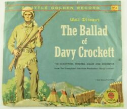 Disney - 2 Golden Records 45 Rpm - Davy Crockett/ Lady And The Tramp Z3