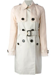 Nwt London Heritage Tan Stone Trench Coat With Silk Sleeves 12 10 44