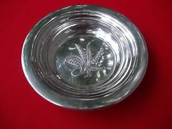 Silver Wheat Pattern 6 Sterling Candy / Nut Dish By Reed And Barton 89.6 Grams