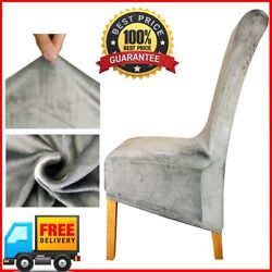 Velvet Fabric Europe Long High Xl King Back Chair Cover Seat Chair Covers Hotel