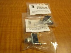 2 Miniature Push Button Switch Spst 2 Connections 1/2 Dia Mounting Hole New