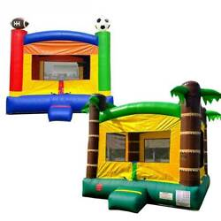 Pogo Kids Sports And Tropical Premium Inflatable Bounce House Castles With Blowers