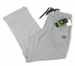 NWT Umbro Men's Knitted Jersey Pants (Sweat Pants) - Navy Grey OR Black
