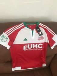 Adidas New England Revolution Mls Soccer Jersey Nwt Size Large Youth